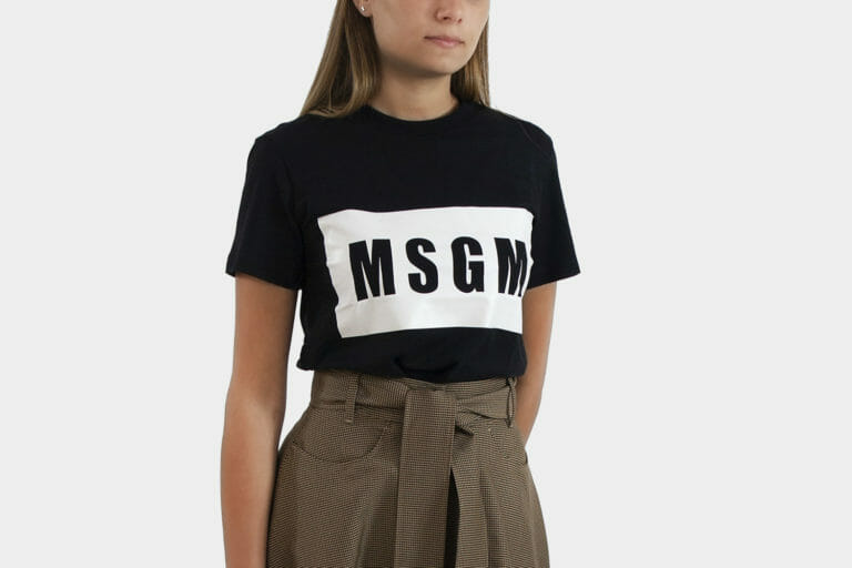 msgm czarny damski t shirt 1