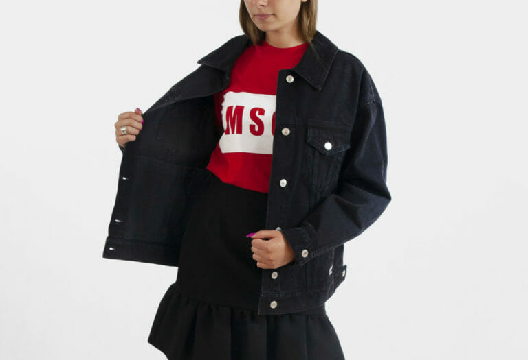 msgm jeansowa kurtka damska denim