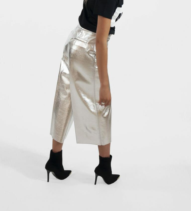 msgm srebrne spodnie damskie 1