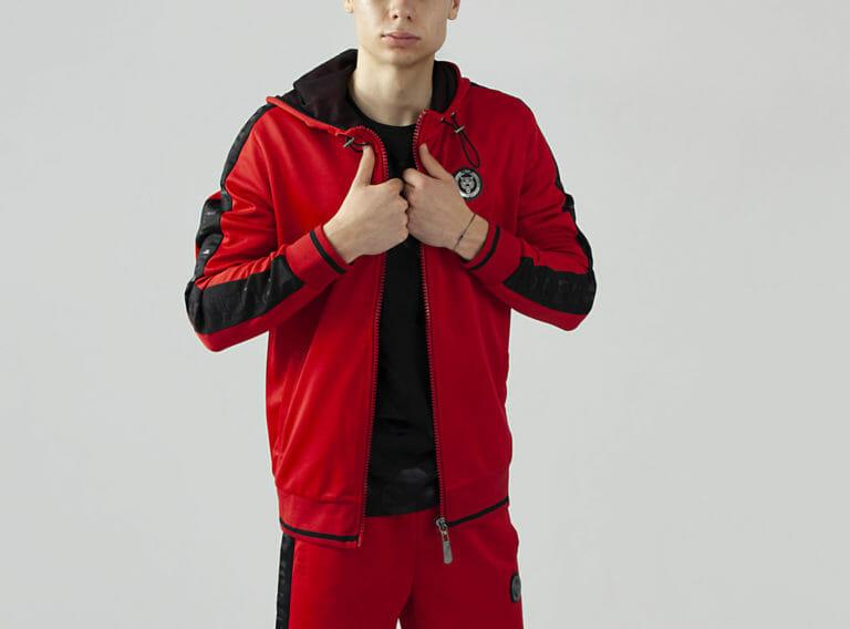 plein sport bluza czerwony dres bluza 1