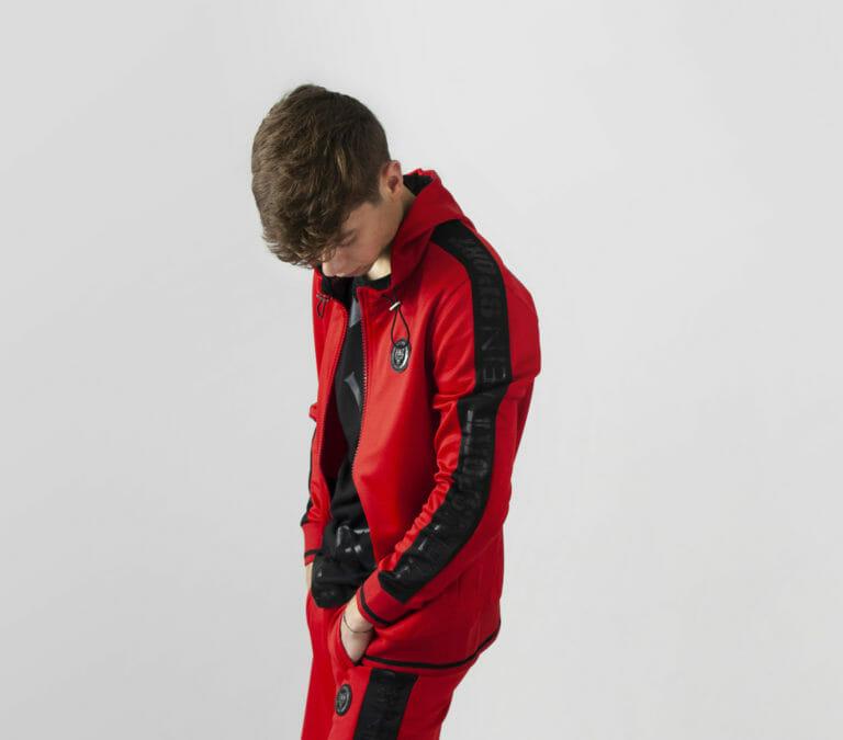 plein sport bluza czerwony dres bluza 2