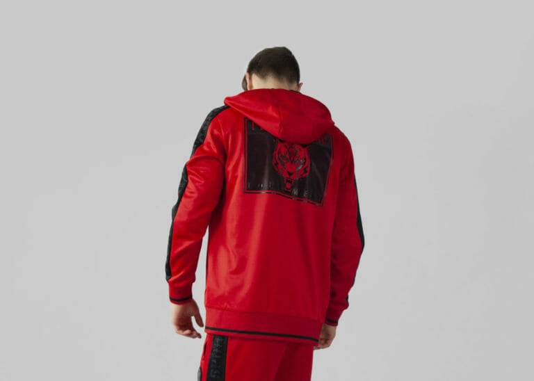 plein sport bluza czerwony dres bluza 3