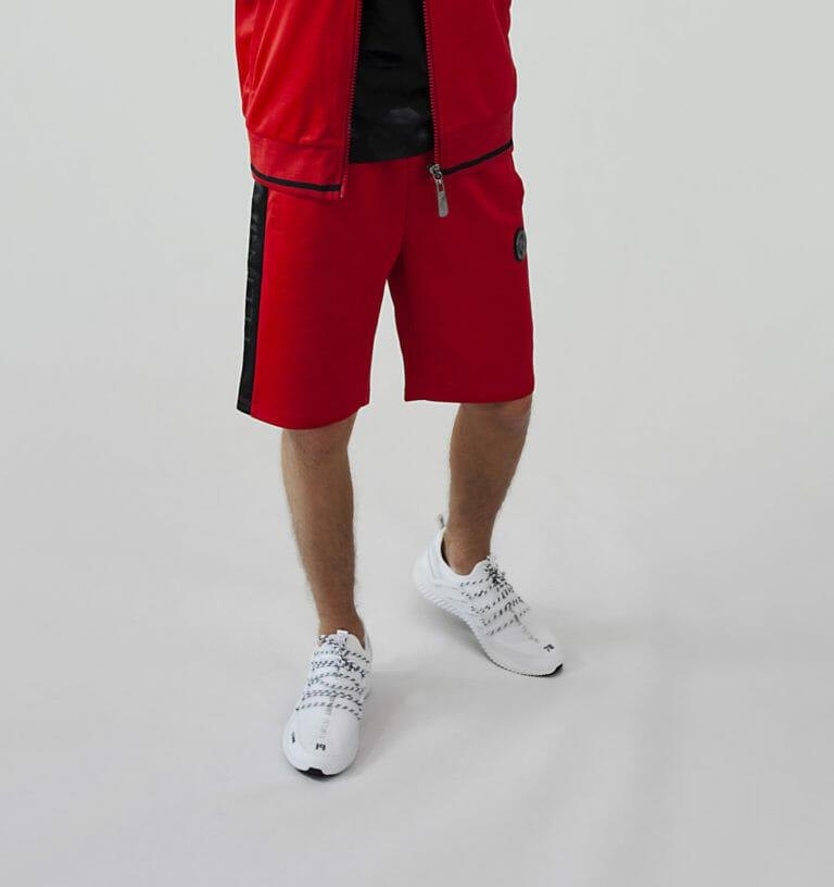plein sport bluza czerwony dres spodenki 1