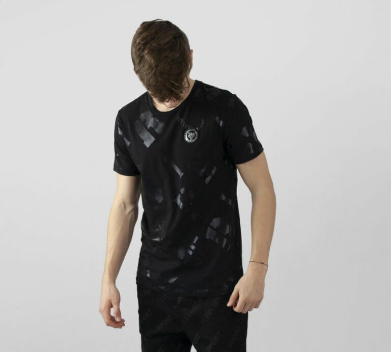 plein sport t shirt z printem logo czarny 1