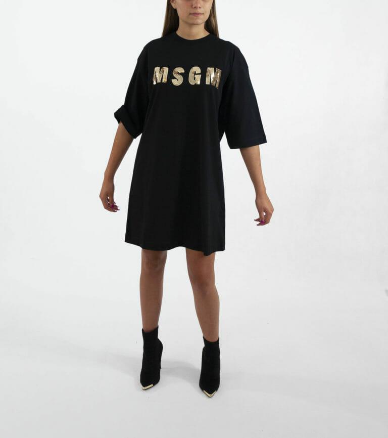 sukienka msgm czarna 2