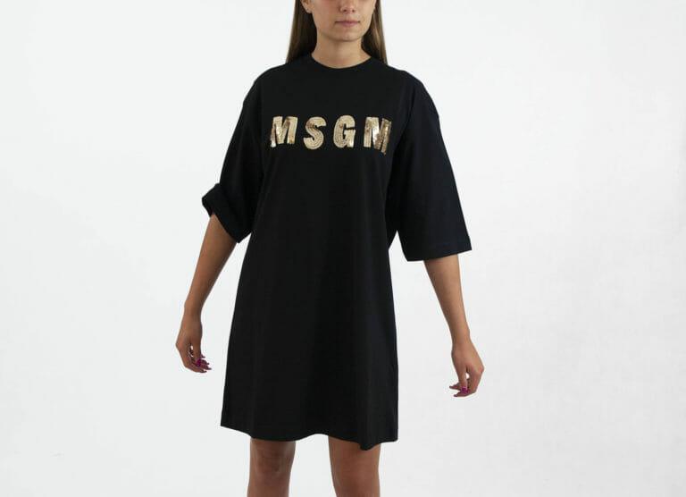 sukienka msgm czarna 3