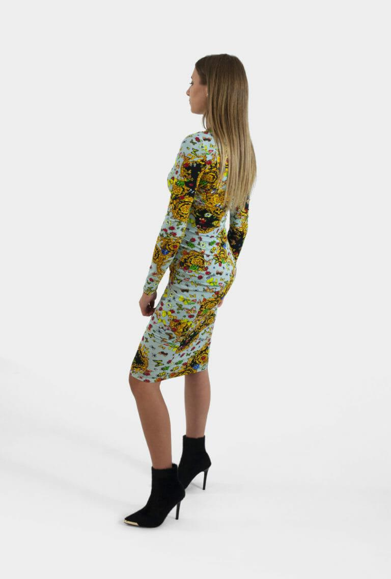 sukienka z printem versace jeans couture 1