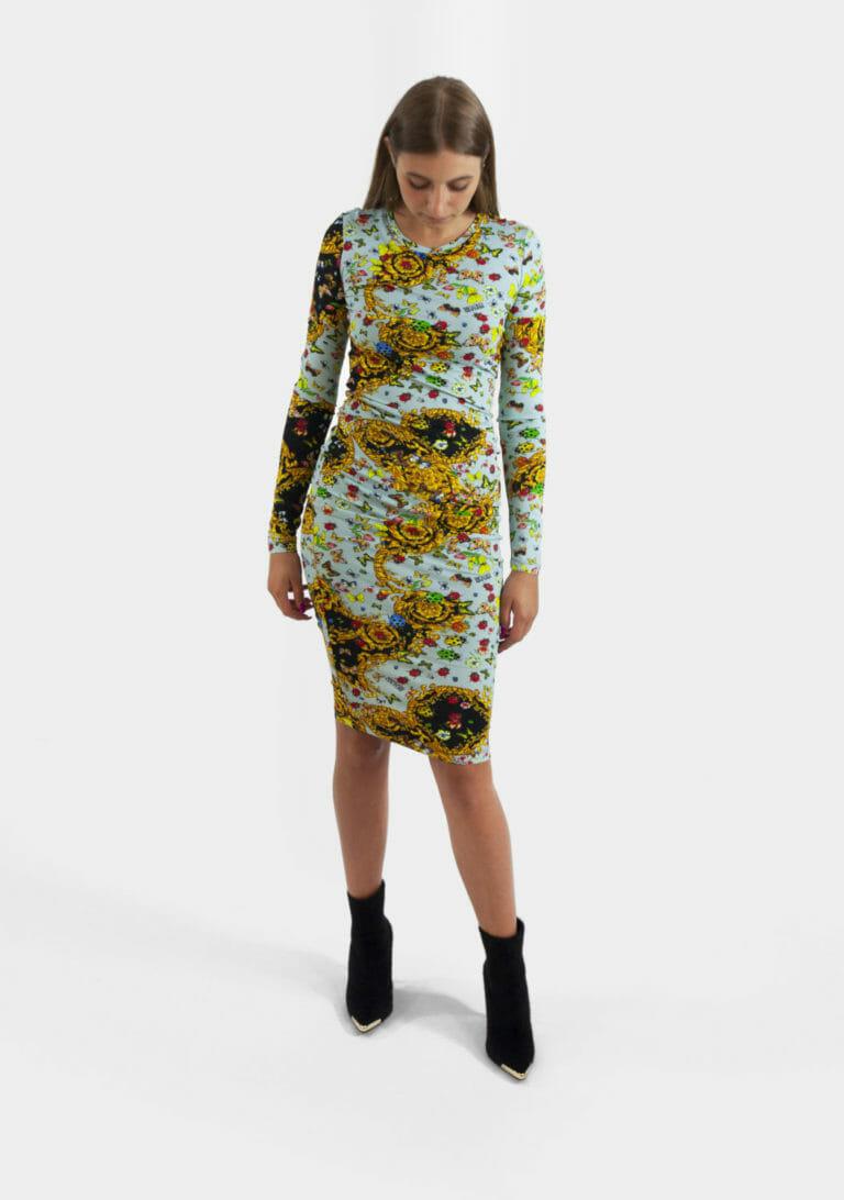 sukienka z printem versace jeans couture