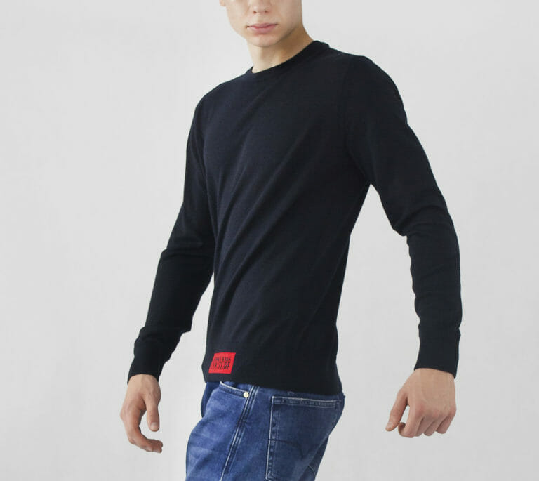 sweter versace jeans couture granatowy meski 2