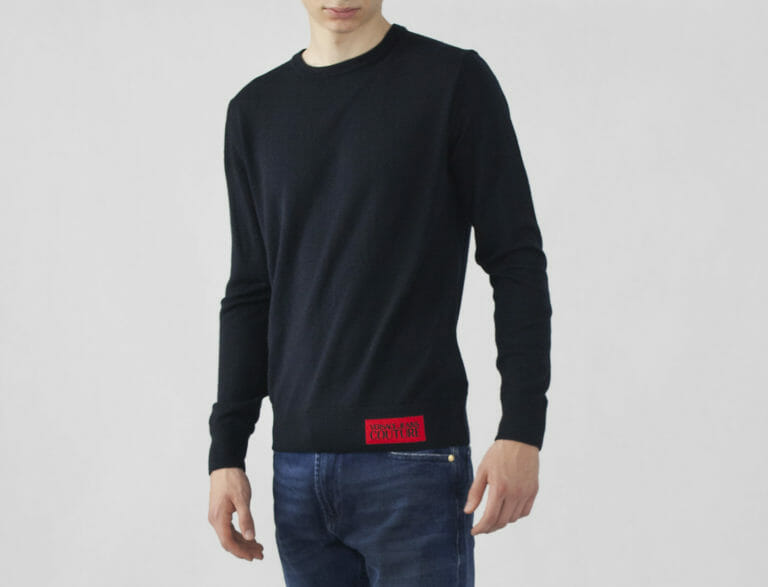 sweter versace jeans couture granatowy meski