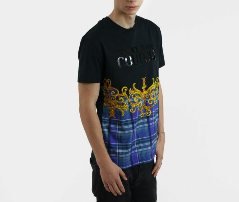 t shirt meski versace jeans couture z logo 2