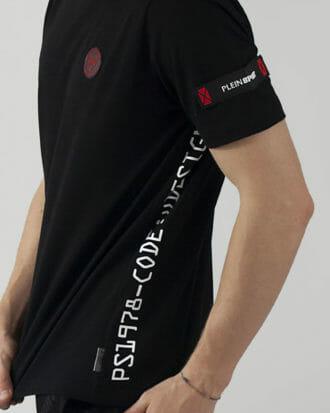 t shirt plein sport meski czarny z logo 3