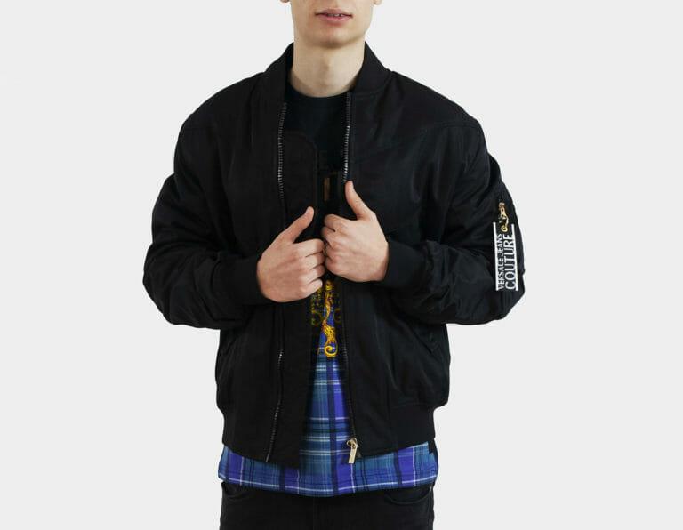 versace jeans couture czarna meska kurtka 4