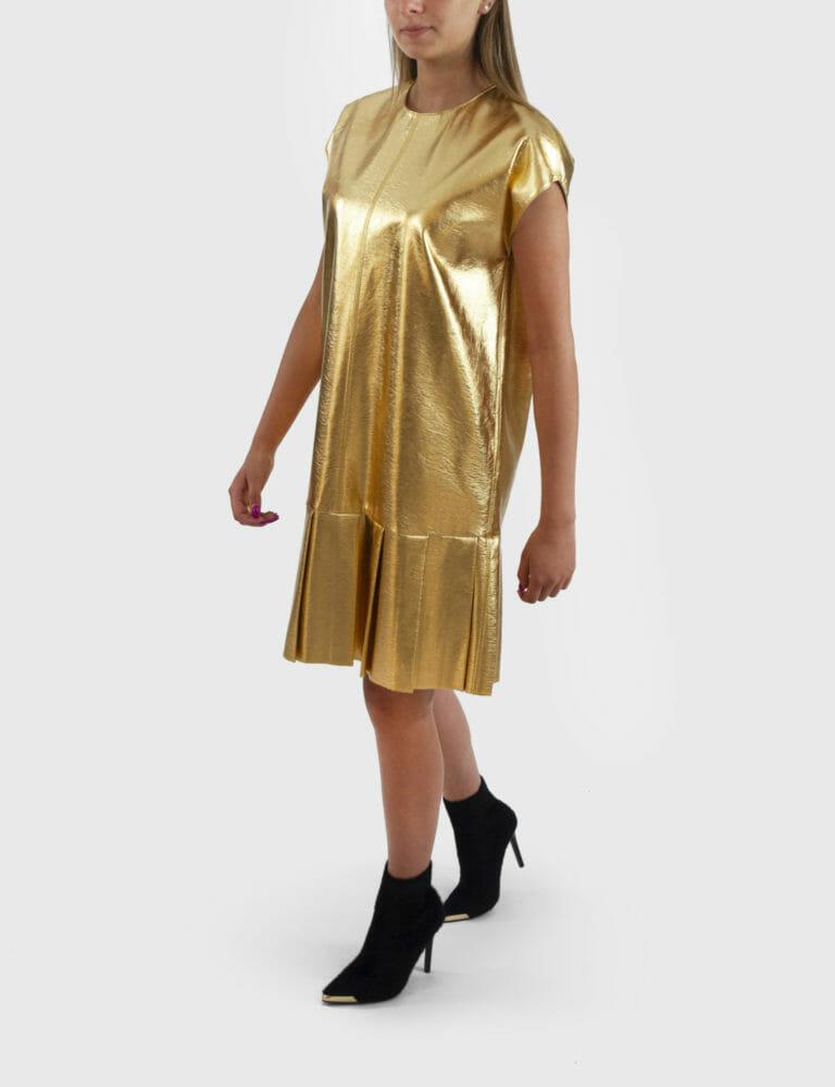 zlota sukienka msgm 1