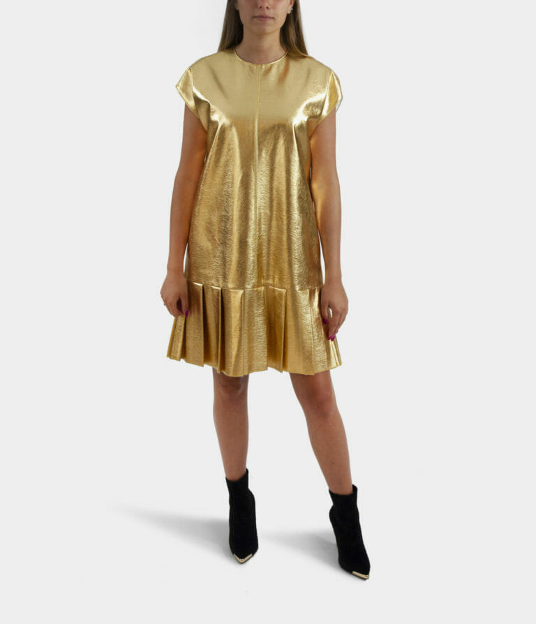 zlota sukienka msgm 2