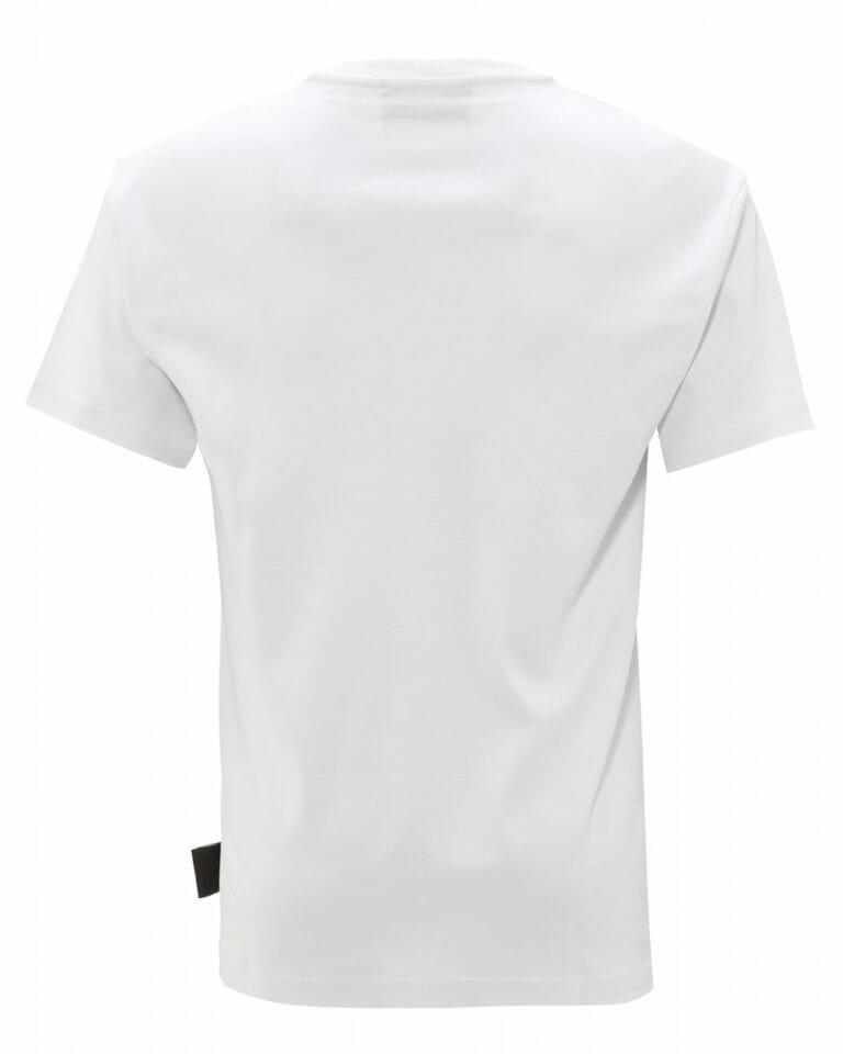 Biały t shirt z logo Versace Jeans Couture2