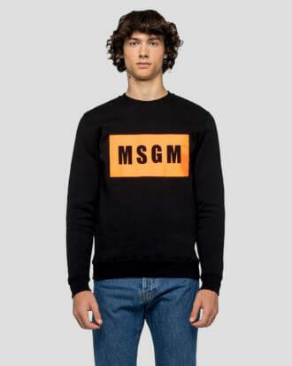 Bluza czarna z logo MSGM