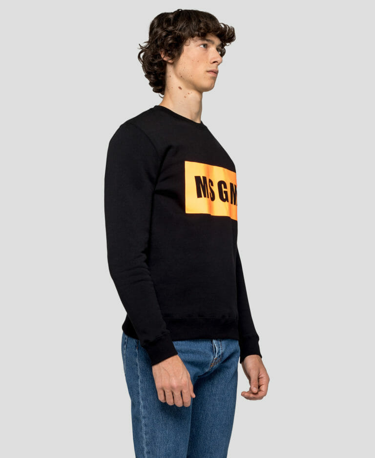 Bluza czarna z logo MSGM2