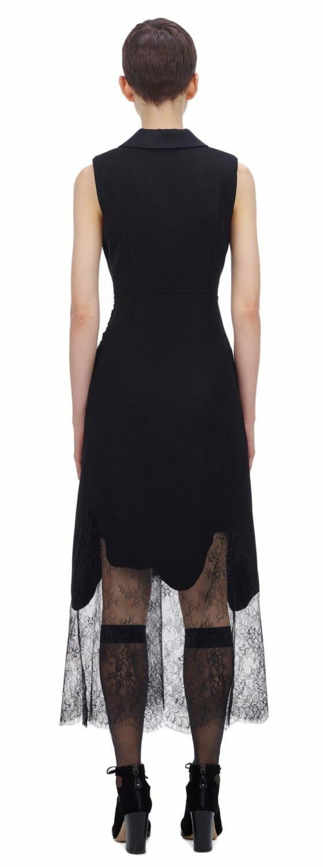 Sukienka czarna z głębokim dekoltem Self Portrait2