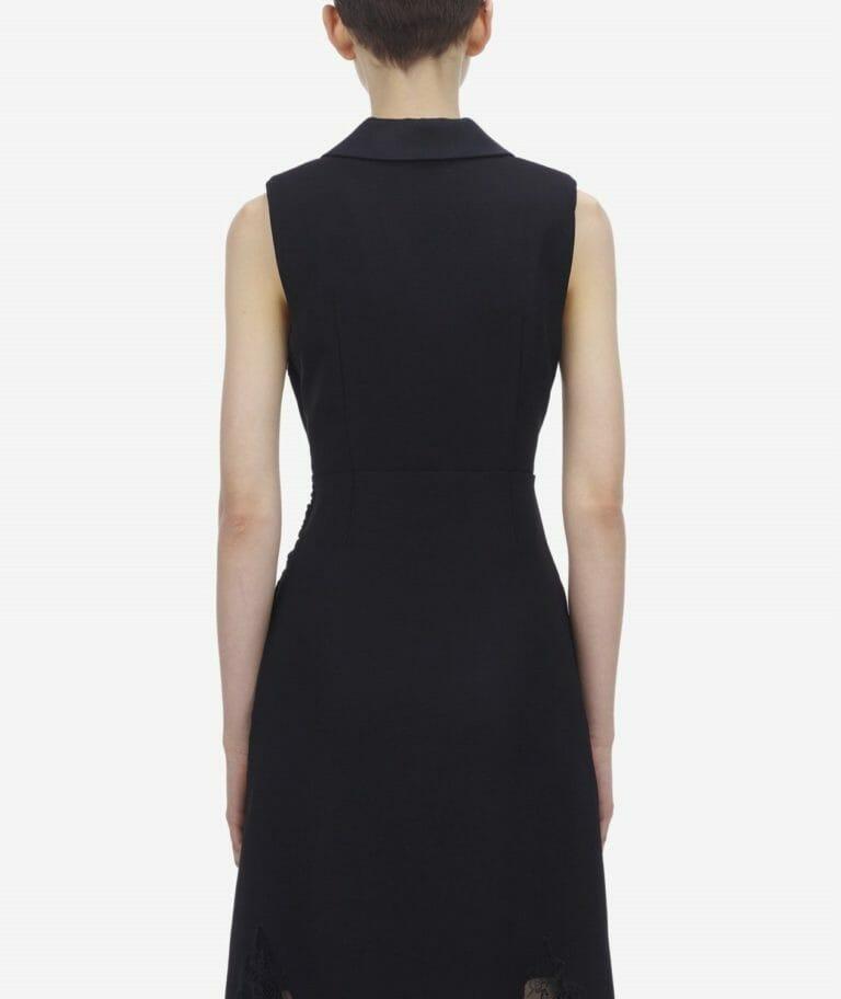 Sukienka czarna z głębokim dekoltem Self Portrait4