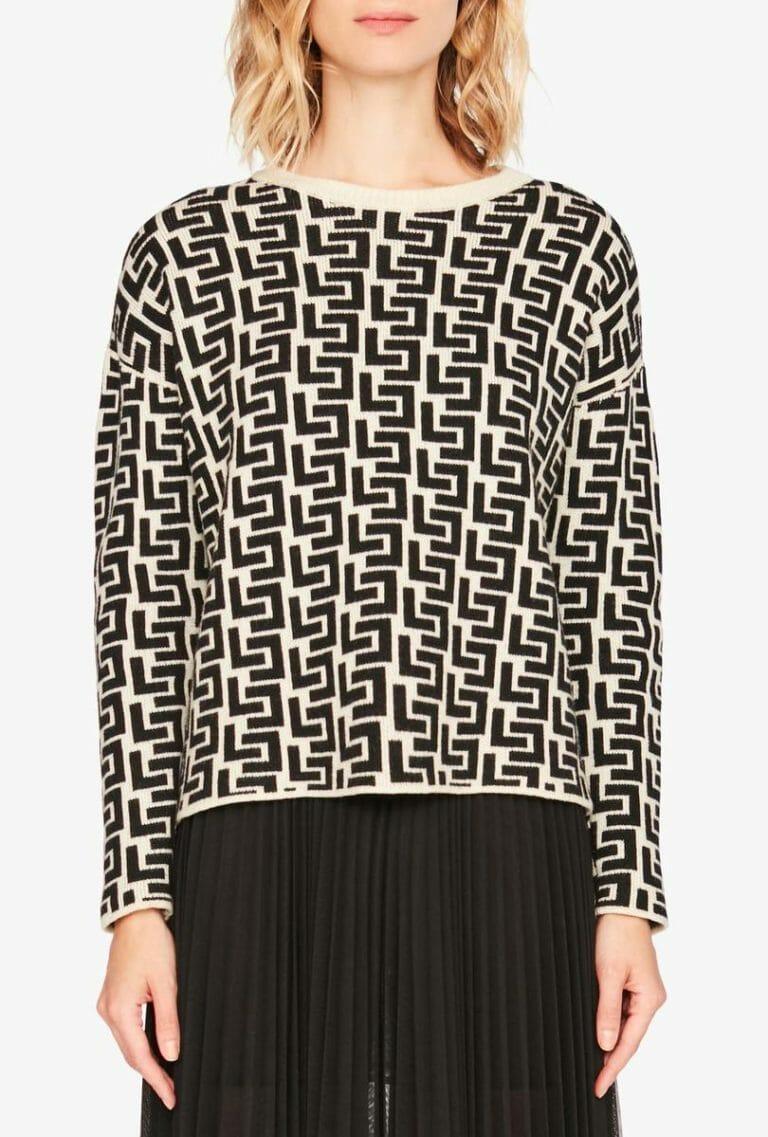 Sweter z nadrukiem z logo Liviana Conti 3
