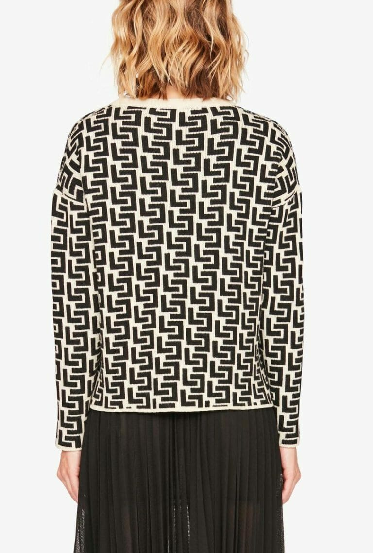Sweter z nadrukiem z logo Liviana Conti 4