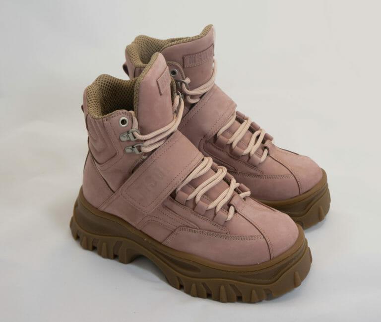 msgm damskie rozowe buty zimowe z wysoka podeszwa 1