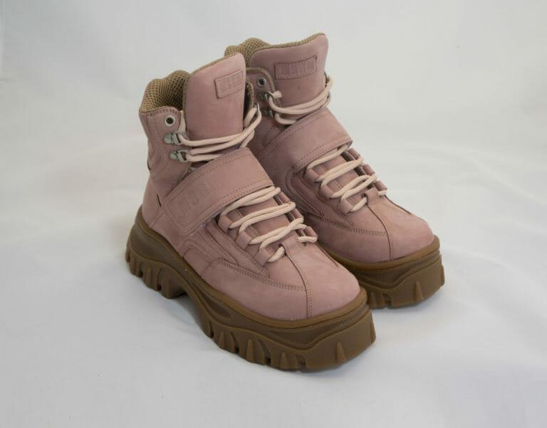 msgm damskie rozowe buty zimowe z wysoka podeszwa 2