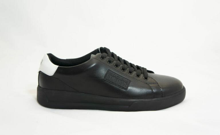 sneakersy versace meskie czarne skorzane z bialym tylem 1