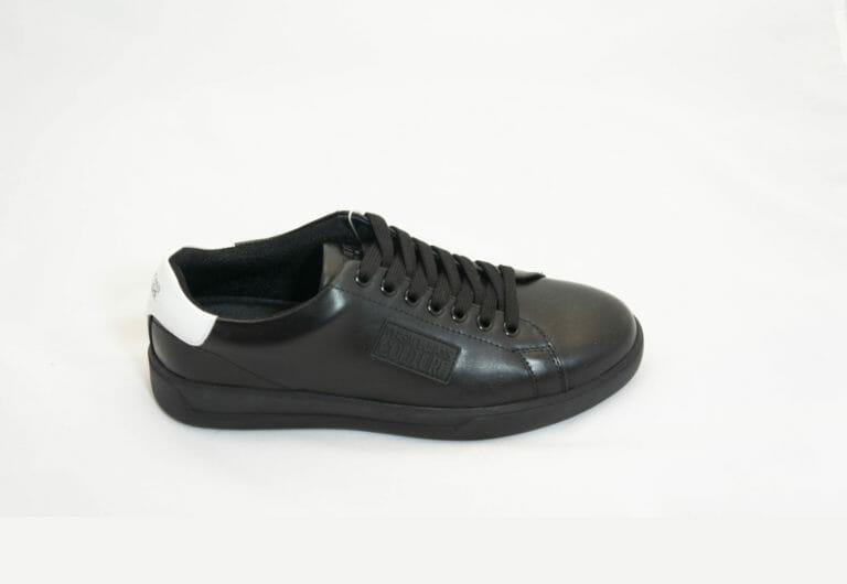 sneakersy versace meskie czarne skorzane z bialym tylem 2