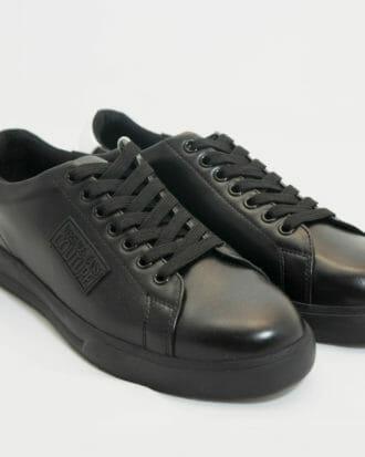 sneakersy versace meskie czarne skorzane z bialym tylem 3