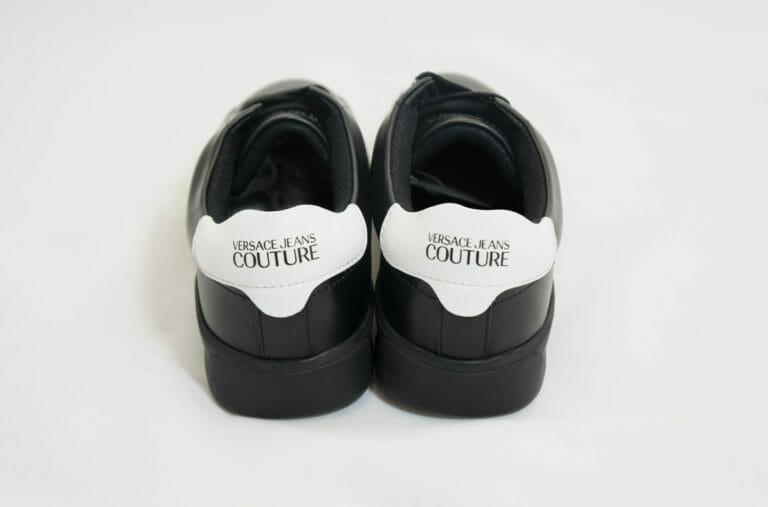 sneakersy versace meskie czarne skorzane z bialym tylem 4