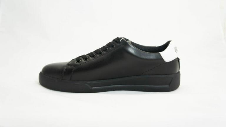 sneakersy versace meskie czarne skorzane z bialym tylem