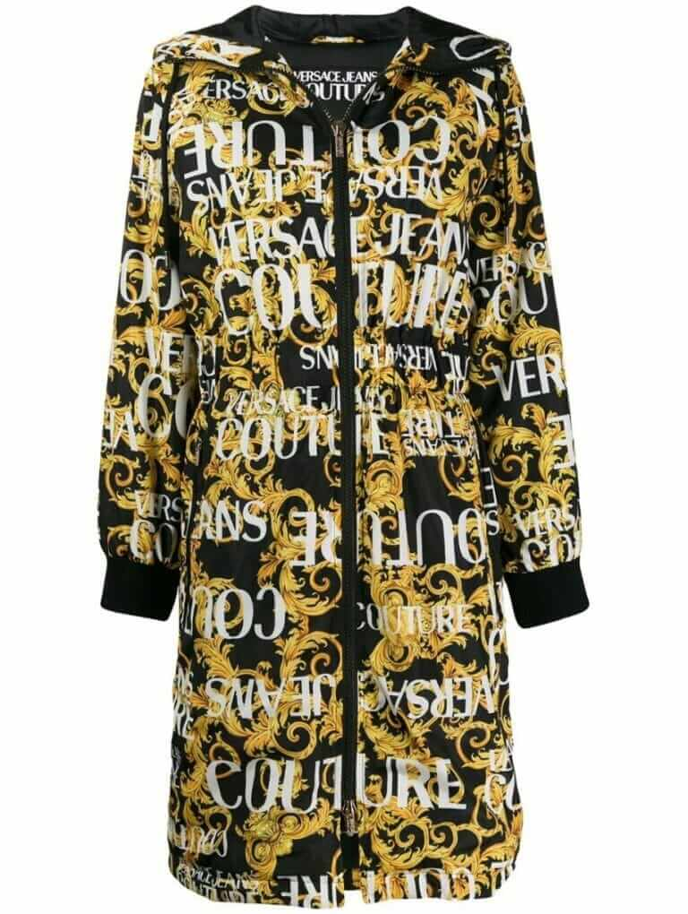 versace jeans couture hooded coat