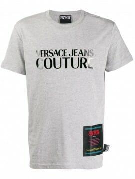 versace jeans couture logo print t shirt 1
