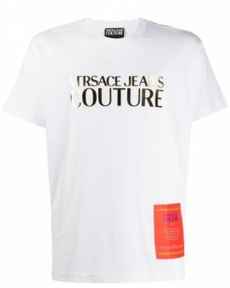 versace jeans couture logo print t shirt