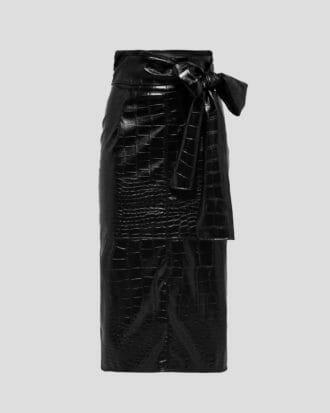 MSGM sukienka skóra
