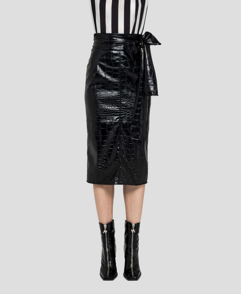 MSGM sukienka skóra2