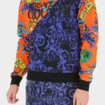 Granatowo-pomarańczowa bluza męska - Versace Jeans Couture