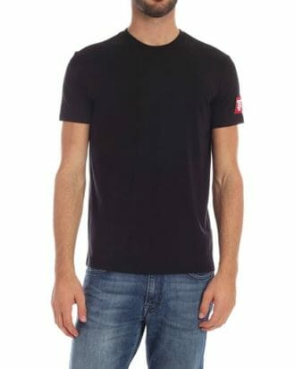 dsquared2 black tshirt with logo patch d9m202460 001 b23cadc7 575f 4610 979a abd32e0b0739