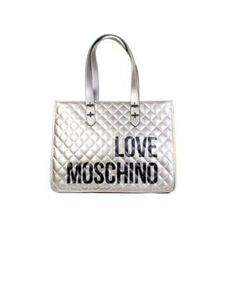 srebrna szoperka love moschino