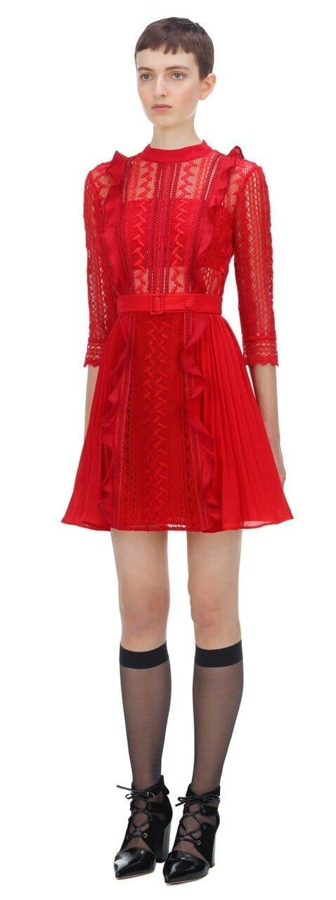 sukienka czerwona mini self portrait.2
