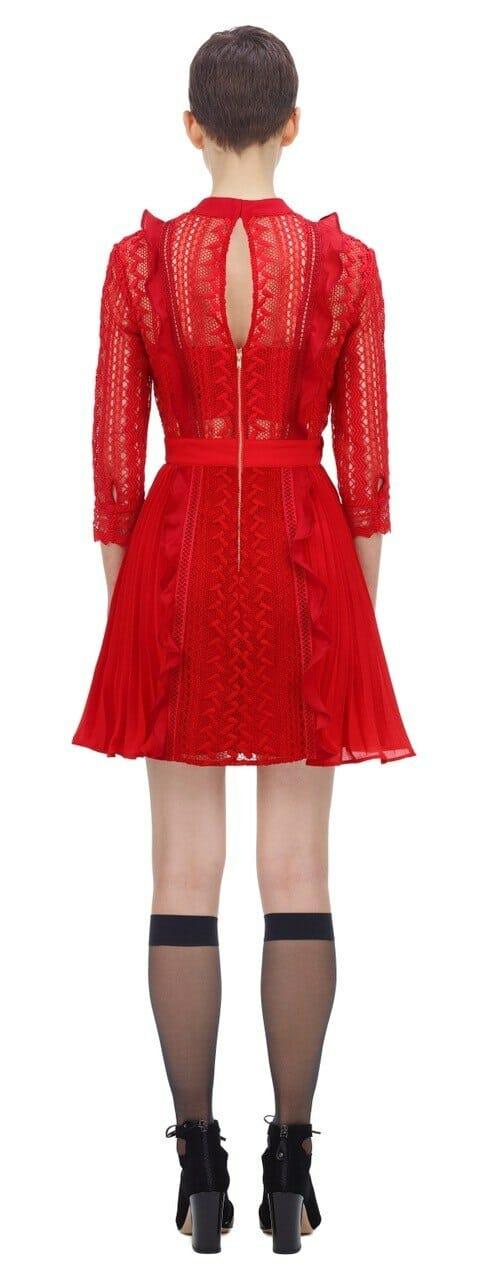 sukienka czerwona mini self portrait.3