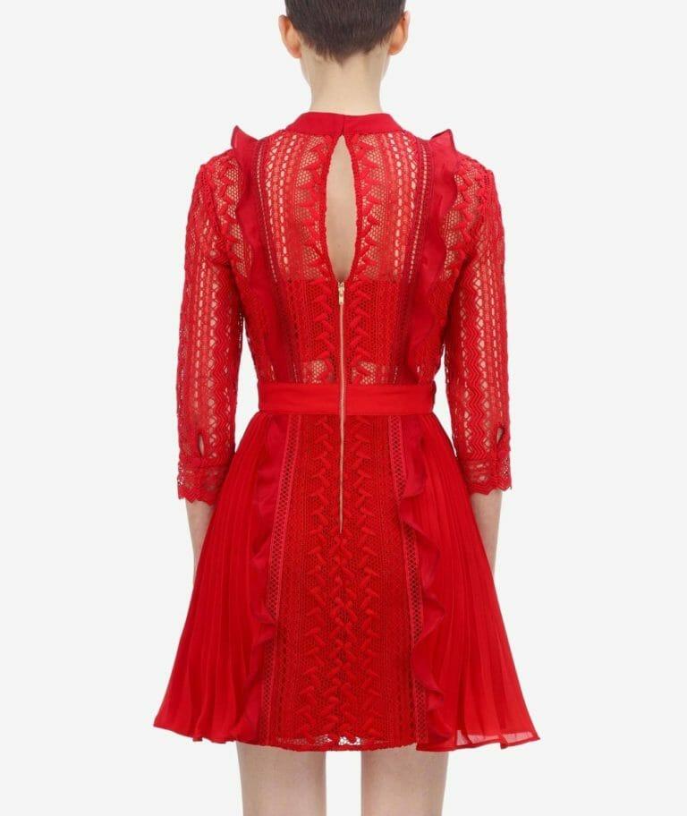 sukienka czerwona mini self portrait.5