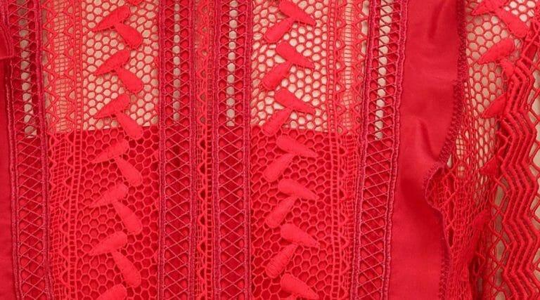 sukienka czerwona mini self portrait.6