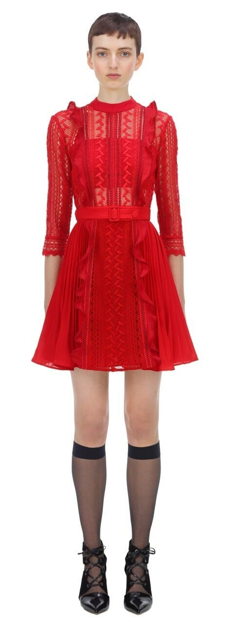 sukienka czerwona mini self portrait