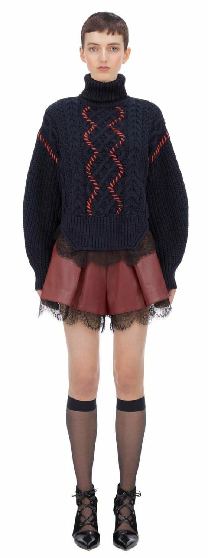 sweter z koronką self portrait