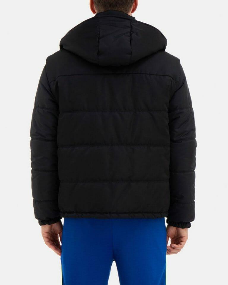 iceberg black quilted iceberg jacket with detachable hood and sleeves 3