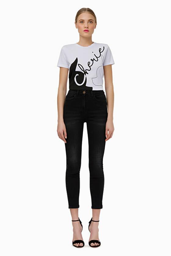 Czarne jeansy skinny Elisabetta Franchi2