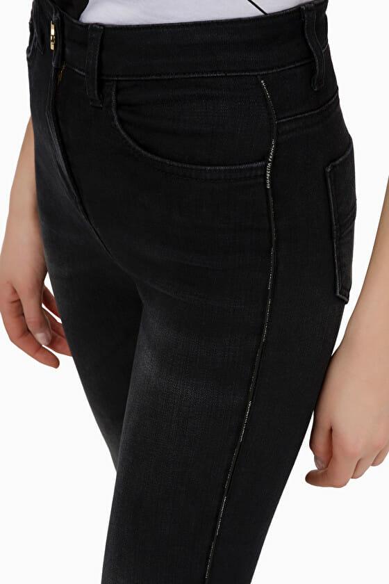 Czarne jeansy skinny Elisabetta Franchi3